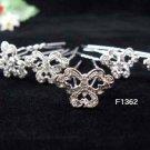 6 pc handmade Wedding accessories;bridal tiara veil ;bridesmaid silver alloy hairpin  f1362