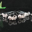 6 pc handmade Wedding accessories;bridal bridesmaid alloy silver hairpin; fancy headband 4-1295