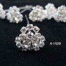 6 pc handmade Wedding accessories;bridal tiara ,bridesmaid silver hairpin; fancy headband 4-1529