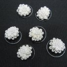 6 pc handmade Wedding accessories;bridal white hairpin bridesmaid tiara floral curly pin HP26i