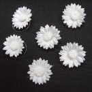 6 pc handmade Wedding accessories;bridal bridesmaid white daisy curly hairpin;headband HP33