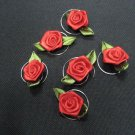 6 pcs handmade Wedding hair accessories;bridal red rose hairpin ,bridesmaid curly floral pin HP34r