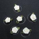6 pcs handmade Wedding hair accessories;bridal yellow rose hairpin bridesmaid floral curly pin HP35