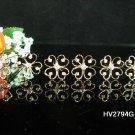 6 pc Wedding hair accessories;bridal handmade golden hairpin bridesmaid alloy heart pin 2794g