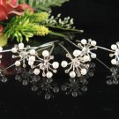 6 pc Wedding hair accessories;bridal handmade hairpin bridesmaid floral pearl veil pin 1529w
