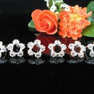 6 pc Wedding hair accessories;bridal handmade curly hairpin bridesmaid floral alloy veil comb f1183