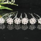 6 pc Wedding accessories;bridal headpiece;bridesmaid handmade alloy floral hairpin;headband F1352