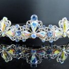 Bridal accessories; wedding hair tiara;headpiece; alloy swarovski ab handmade imperial cn72021