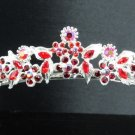 Bridal accessories; wedding hair tiara; alloy handmade headpiece; headband; red imperial kc908r