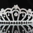 Bridal accessories; wedding handmade tiara;rhinestone headpiece; crystal sparkle regal j658