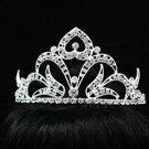 Bridal handmade accessories; wedding huge tiara;rhinestone headpiece; huge crystal regal 6323s