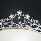 Bridal accessories; wedding tiara handmade pearl rhinestone headpiece;crystal pearl regal 635