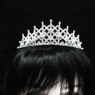 Bridal accessories; wedding tiara;rhinestone headpiece;crystal huge handmade regal 684