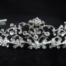 Bridal accessories;handmade wedding tiara;rhinestone headpiece; alloy handmade floral regal 9001