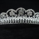Bridal hair accessories;wedding tiara;rhinestone silver headpiece; daisy crystal imperial 1878