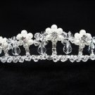 Bridal accessories;wedding tiara;rhinestone headpiece;crystal floral pearl regal 2423