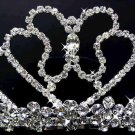 Bridal hair accessories;wedding tiara;rhinestone handmade crystal butterfly regal  777