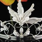 Bridal hair accessories;wedding tiara rhinestone headpiece special crystal huge regal 1876