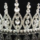 Bridal hair accessories;wedding tiara;rhinestone headpiece swarovski crystal huge regal 2330