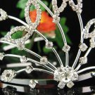 Bridal hair accessories;wedding tiara rhinestone headpiece;crystal handmade huge floral regal  s1094
