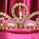 Bridal accessories;wedding tiara;rhinestone headpiece handmade golden swarovski imperial cn63g