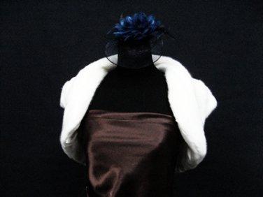 Handmade Bridal accessories ivory faux bolero jacket ;shawl or wrap sh16i