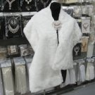 Handmade wedding faux fur ivory bolero jacket ;bridal jacket ;shrug ;shawl or wrap sh1i