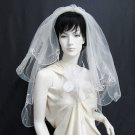 handmade Bridal veil ; waist or fingertip length ;wedding accessories; party veil 715i