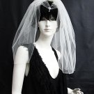 Handmade Bridal veil ; waist or fingertip length ;wedding accessories; party veil 782i