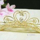 Bridal hair accessories;wedding tiara;rhinestone sweetheart crystal golden bridal comb 1399G