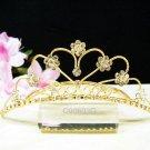 Bridal hair accessories;wedding tiara;rhinestone sweetheart crystal golden bridal comb 603G