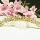Bridal golden hair accessories wedding tiara rhinestone filigree crystal bridal comb 2651G