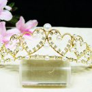Bridal hair accessories;wedding tiara;rhinestone headpiece sweetheart golden crystal comb 3576G