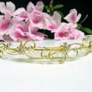 Bridal hair accessories;wedding tiara;rhinestone floral golden crystal comb 3839G