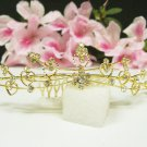 Bridal hair accessories;wedding tiara;rhinestone floral golden crystal bridal comb 5471G