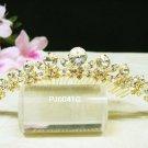 Golden Bridal crystal bridal comb hair accessories,wedding tiara veil,rhinestone headpiece PJ41G