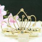 crystal golden bridal comb hair accessories,wedding tiara ,rhinestone headpiece veil SC50G