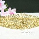 crystal golden bridal comb hair accessories,wedding tiara , rhinestone headpiece veil 17G