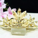 Handmade crystal bridal comb hair accessories,wedding tiara veil,rhinestone floral headpiece TA67G