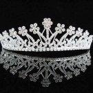Floral Bridal headpiece,bridal hair accessories,wedding tiara veil,rhinestone regal 2581