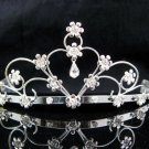 Handmade bridal hair accessories,wedding tiara veil,bridesmaid rhinestone regal 175