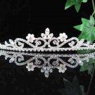 Bridal headpiece,bridal hair accessories,wedding tiara veil,floral pearl rhinestone regal 857