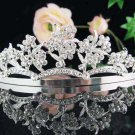 Alloy flroal bridal headpiece bridal accessories wedding tiara rhinestone veil 728