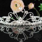 bridal headpiece,bridal hair accessories, filigree wedding tiara rhinestone veil 828