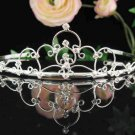 Filigree bridal headpiece,bridal hair accessories,wedding tiara rhinestone veil 2953