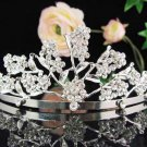 Bridal headpiece,bridal hair accessories, floral wedding tiara rhinestone veil 730