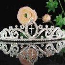Bridal headband veil,bridal hair accessories,wedding rhinestone tiara 4992