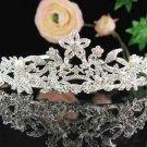 Bridal tiara headband veil,wedding rhinestone hair accessories,pearl tiara 612