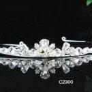 Handmade silver bridal tiara comb,wedding headpiece woman hair accessories tiara band regal 2300