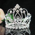 Handmade silver bridal small crown veil,wedding headpiece woman hair accessories tiara regal 8772